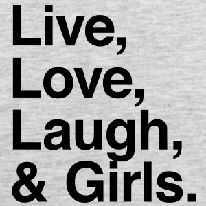 Live , love , laugh and girls T-Shirts - Men's Premium Tank