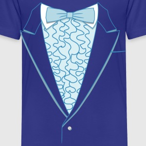 Fake Deluxe Tuxedo Blue Youth - Toddler Premium T-Shirt