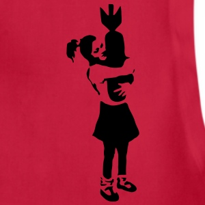 Banksy Graffiti - Bomb Girl kcco Vector T-Shirts - Adjustable Apron