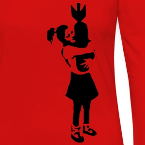 Banksy Graffiti - Bomb Girl kcco Vector T-Shirts - Women's Premium Long Sleeve T-Shirt