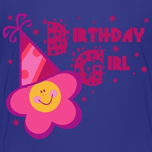 Birthday Girl Flower Design - Toddler Premium T-Shirt