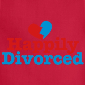 happily divorced with broken love heart T-Shirts - Adjustable Apron
