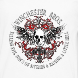 Winchester Bros Ring Patch 2 silver T-Shirts - Men's Premium Long Sleeve T-Shirt