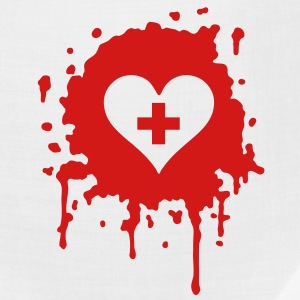 splatter heart doc T-Shirts - Bandana