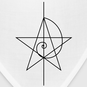 Pentagram, five star, spiral, alchemy, magic, witches, character, fibonacci, compasses, gothic, pagan T-Shirts - Bandana