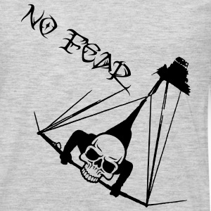 hanggliding skull - no fear T-Shirts - Men's Premium Long Sleeve T-Shirt