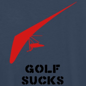 HANGGLIDING GOLF SUCKS T-Shirts - Men's Premium Long Sleeve T-Shirt