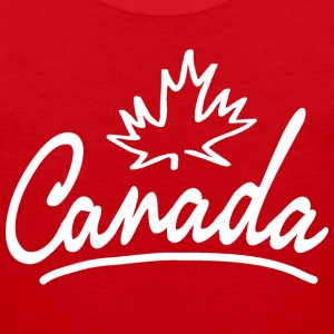 Canada Leaf Script Heavyweight T-Shirt - Men's Premium Tank