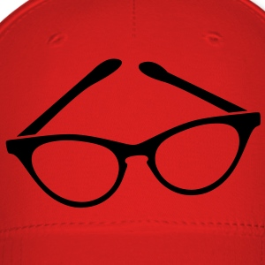 retro funky seeing eye cat eyes glasses librarian T-Shirts - Baseball Cap