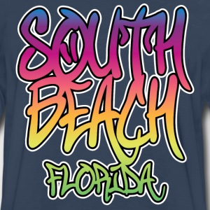 South Beach Graffiti Heavyweight T-Shirt - Men's Premium Long Sleeve T-Shirt