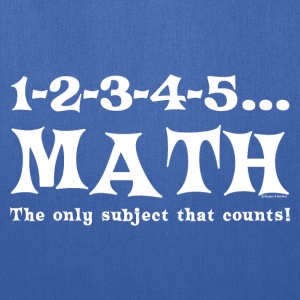 White Math Counts  T-Shirts - Tote Bag