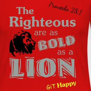 Proverbs 28:1 T-Shirts - Women's Premium Long Sleeve T-Shirt