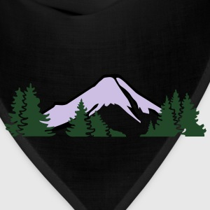 Mountains with forest T-Shirts - Bandana