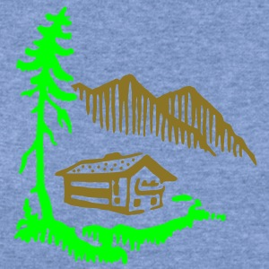 Alps Landscape T-Shirts - Women's Wideneck Sweatshirt