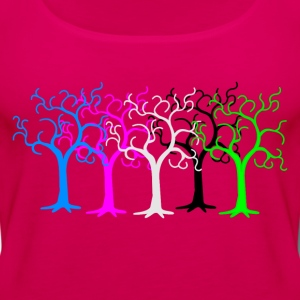 colored forest - digital T-Shirts - Women's Premium Tank Top