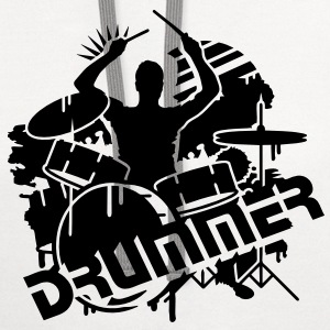 A drummer and his drums  T-Shirts - Contrast Hoodie