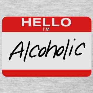 Hello I'm Alcoholic - Men's Premium Long Sleeve T-Shirt