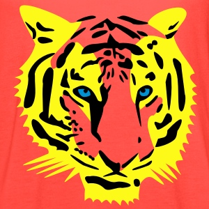 tiger head half - 3 color T-Shirts - Women's Flowy Tank Top by Bella