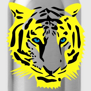 tiger head half - 3 color T-Shirts - Water Bottle