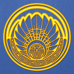 Crop circle - Mayan mask - gold - Silbury Hill 2009 - Quetzalcoatl - Native Americans - Aztec - Venus - 2012 - Symbol New Age / T-Shirts - Tote Bag