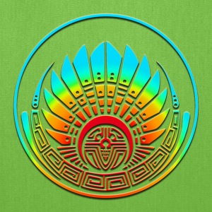 Crop circle - Mayan mask - Silbury Hill 2009 - Quetzalcoatl - Native Americans - Aztec - Venus - 2012 - icon new age / T-Shirts - Tote Bag