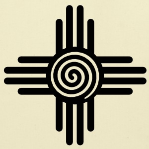 Zia Sun Spiral, Zia Pueblo, New  Mexico, Sun Symbol, SVG,  T-Shirts - Eco-Friendly Cotton Tote