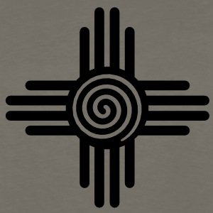 Zia Sun Spiral, Zia Pueblo, New  Mexico, Sun Symbol, SVG,  T-Shirts - Men's Premium Long Sleeve T-Shirt