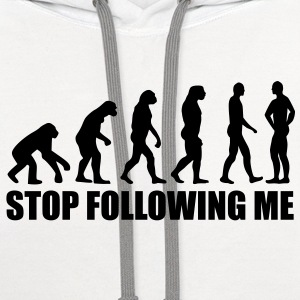 Stop following me evolution T-Shirts - Contrast Hoodie
