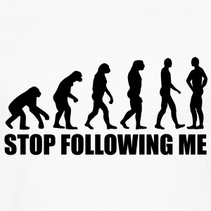 Stop following me evolution T-Shirts - Men's Premium Long Sleeve T-Shirt