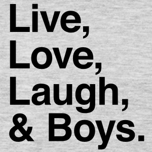 Live , love , laugh and boys T-Shirts - Men's Premium Long Sleeve T-Shirt
