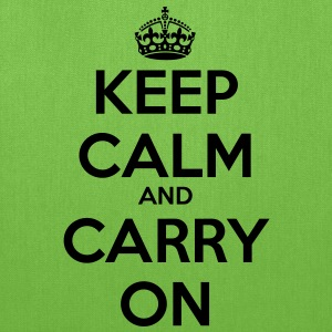 Keep Calm & Carry On Men's T - Tote Bag