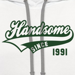 Handsome since 1991 Birthday Anniversary Shirt NW - Contrast Hoodie