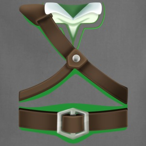 Link Green Tunic (Skyward Sword) - Front Only T-Shirts - Adjustable Apron