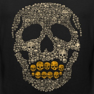 The Golden Skull T-Shirts - Men's Premium Tank
