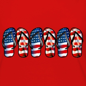 Flip Flops - Women's Premium Long Sleeve T-Shirt
