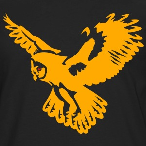 Owl take-off - 2 colors T-Shirts - Men's Premium Long Sleeve T-Shirt