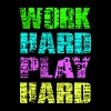 work hard play hard T-Shirts - Men's Premium T-Shirt