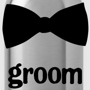 Groom Bow Tie - Water Bottle