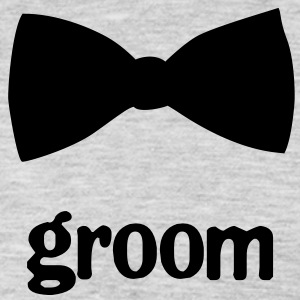 Groom Bow Tie - Men's Premium Long Sleeve T-Shirt