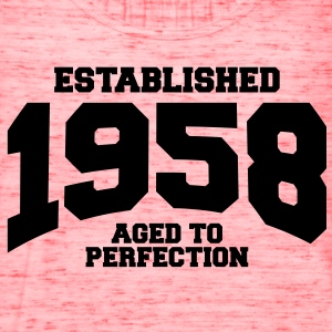 aged to perfection established 1958 T-Shirts - Women's Flowy Tank Top by Bella