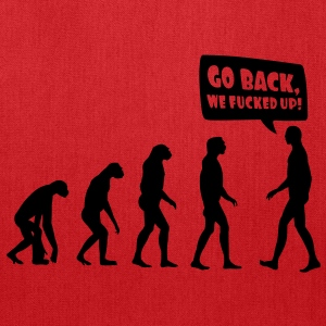 evolution fucked up T-Shirts - Tote Bag