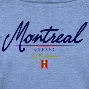 Montreal Script Heavyweight T-Shirt - Women's Wideneck Sweatshirt