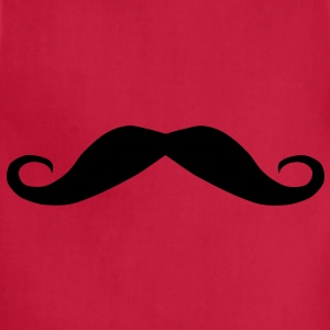 Moustache mustache, a fine top lip for a gent T-Shirts - Adjustable Apron