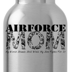 Air Force Mom MY WORLD STANDS STILL WHILE MY SON F - Water Bottle