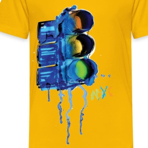NYC Painted Traffic Light - Toddler Premium T-Shirt