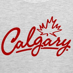 Calgary Leaf Script Heavyweight T-Shirt - Men's Premium Tank