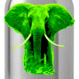 african elephant green colored- digital Women's T-Shirts - Water Bottle