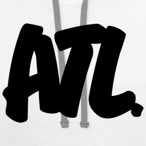 ATL Brushed W Heavyweight T-Shirt - Contrast Hoodie