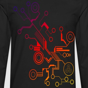 Colorful Circuit LARGE PRINT T-Shirts - Men's Premium Long Sleeve T-Shirt