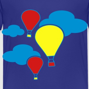 hot air balloons flying with clouds  Kids' Shirts - Toddler Premium T-Shirt